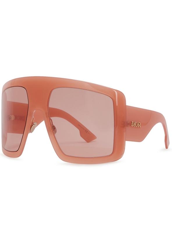 00a4b47ca7 Diorsolight1 peach oversized sunglasses