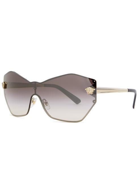 3bb1c94c69bb Versace Gold-tone wrap-around sunglasses - Harvey Nichols
