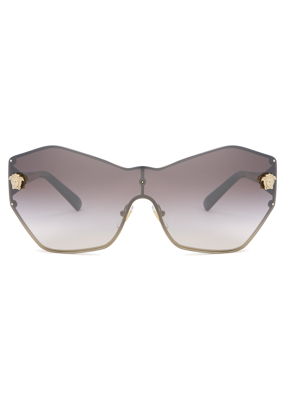 Gold-tone wrap-around sunglasses - Versace