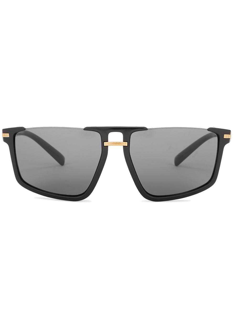 Black wayfarer-style sunglasses - Versace