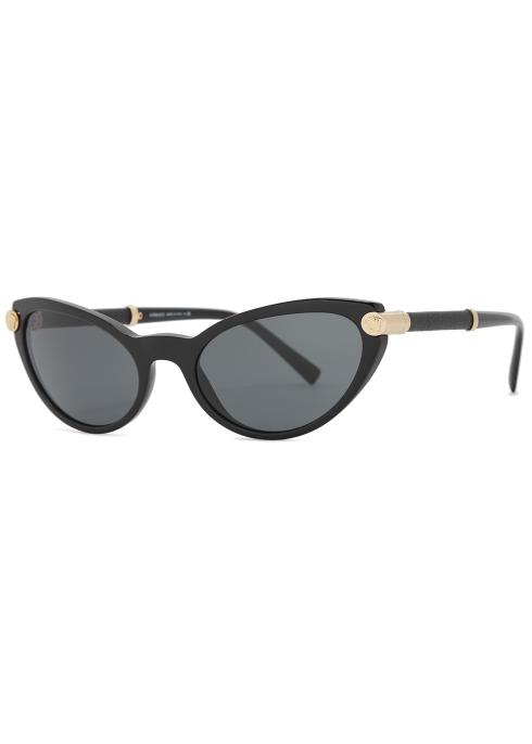 0a1f268fce44 Versace V-rock black cat-eye sunglasses - Harvey Nichols