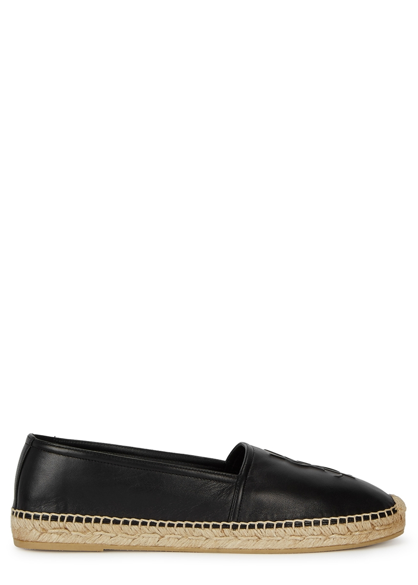 1363a748037 Black logo leather espadrilles Black logo leather espadrilles. New In. Saint  Laurent