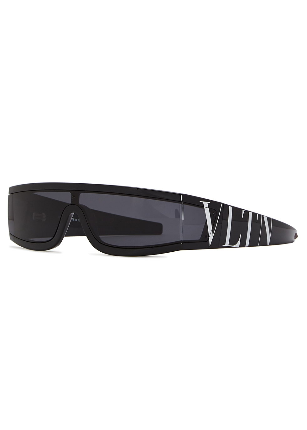 VALENTINO   Valentino Garavani Black Acetate Sunglasses   Goxip