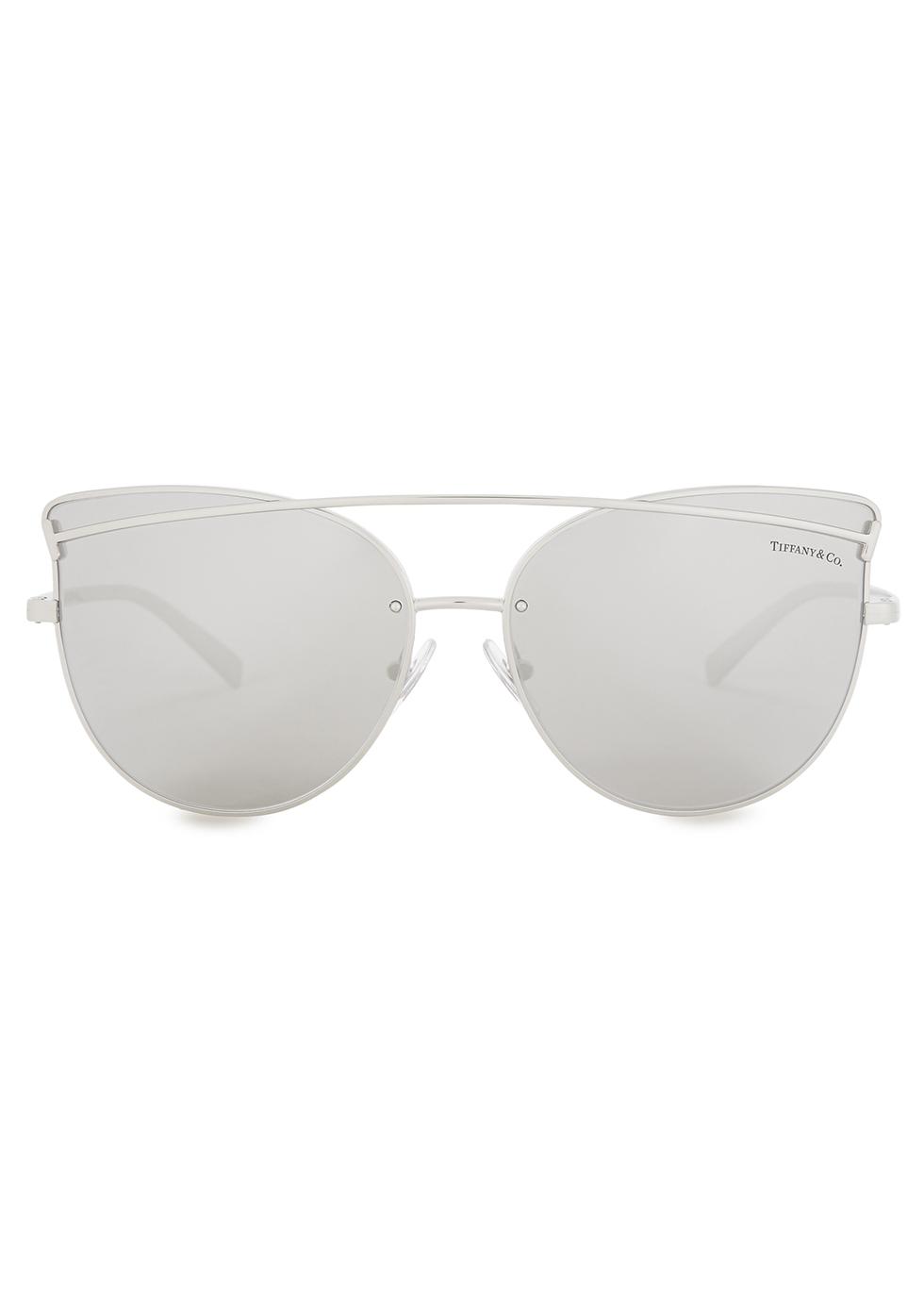 Silver-tone cat-eye sunglasses - TIFFANY