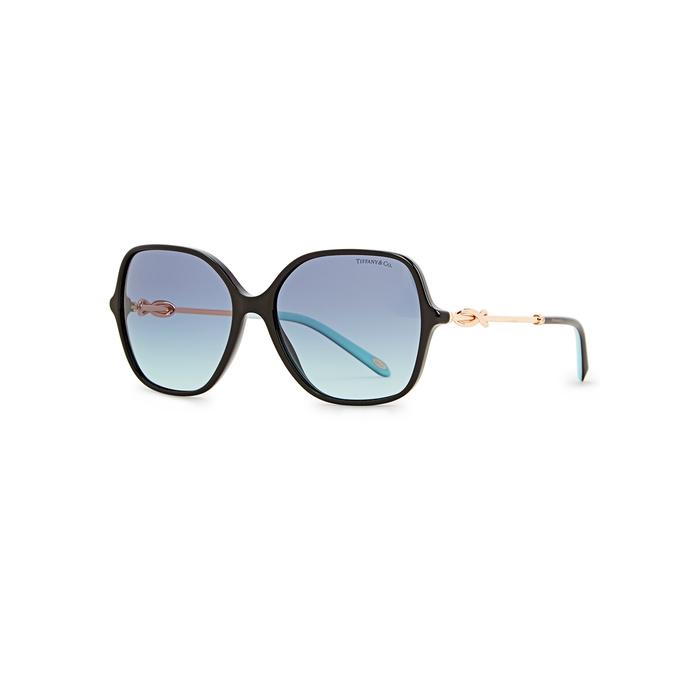 Tiffany & Co Sunglasses BLACK OVAL-FRAME SUNGLASSES