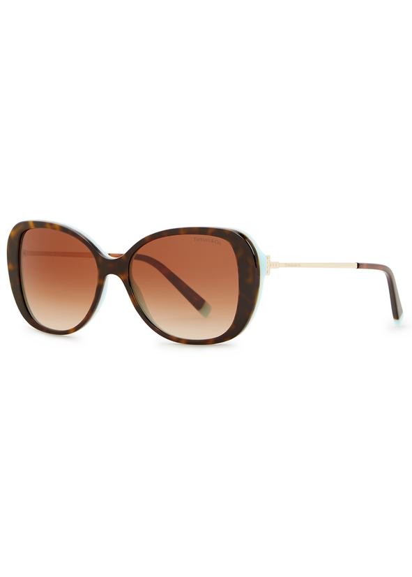490de2e398 Tortoiseshell oval-frame sunglasses