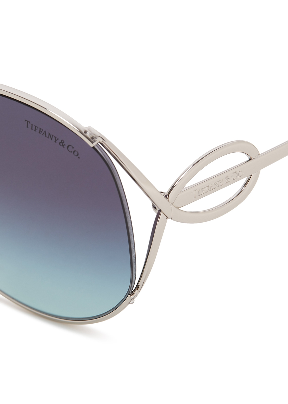 Silver-tone oversized sunglasses - TIFFANY
