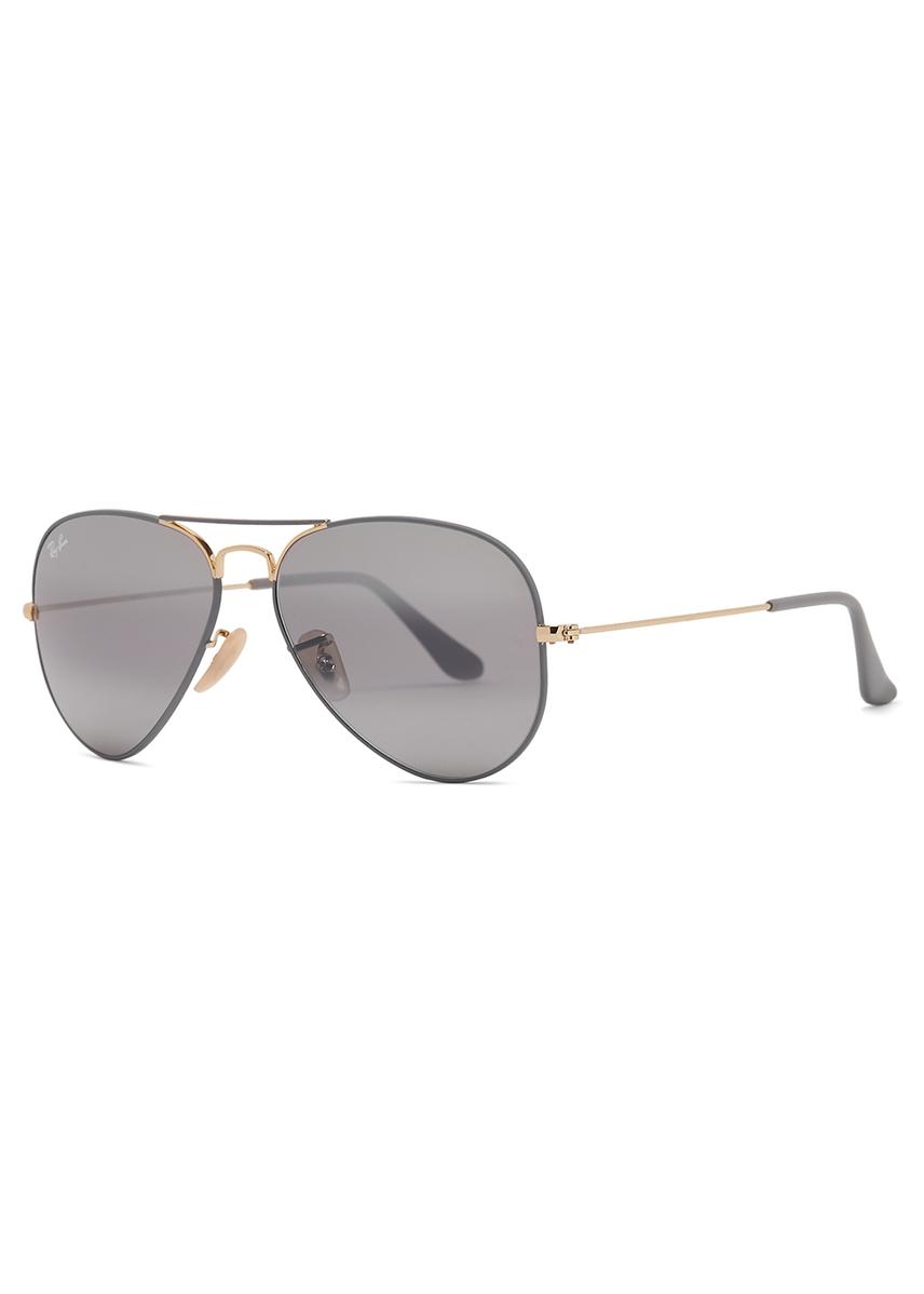 26bd152a9504d Aviator mirrored sunglasses. Ray-Ban
