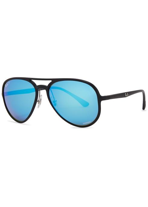 51544becf77 Ray-Ban Aviator black mirrored sunglasses - Harvey Nichols