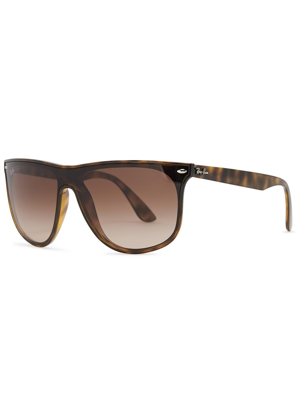 Tortoiseshell D-frame sunglasses - Ray-Ban