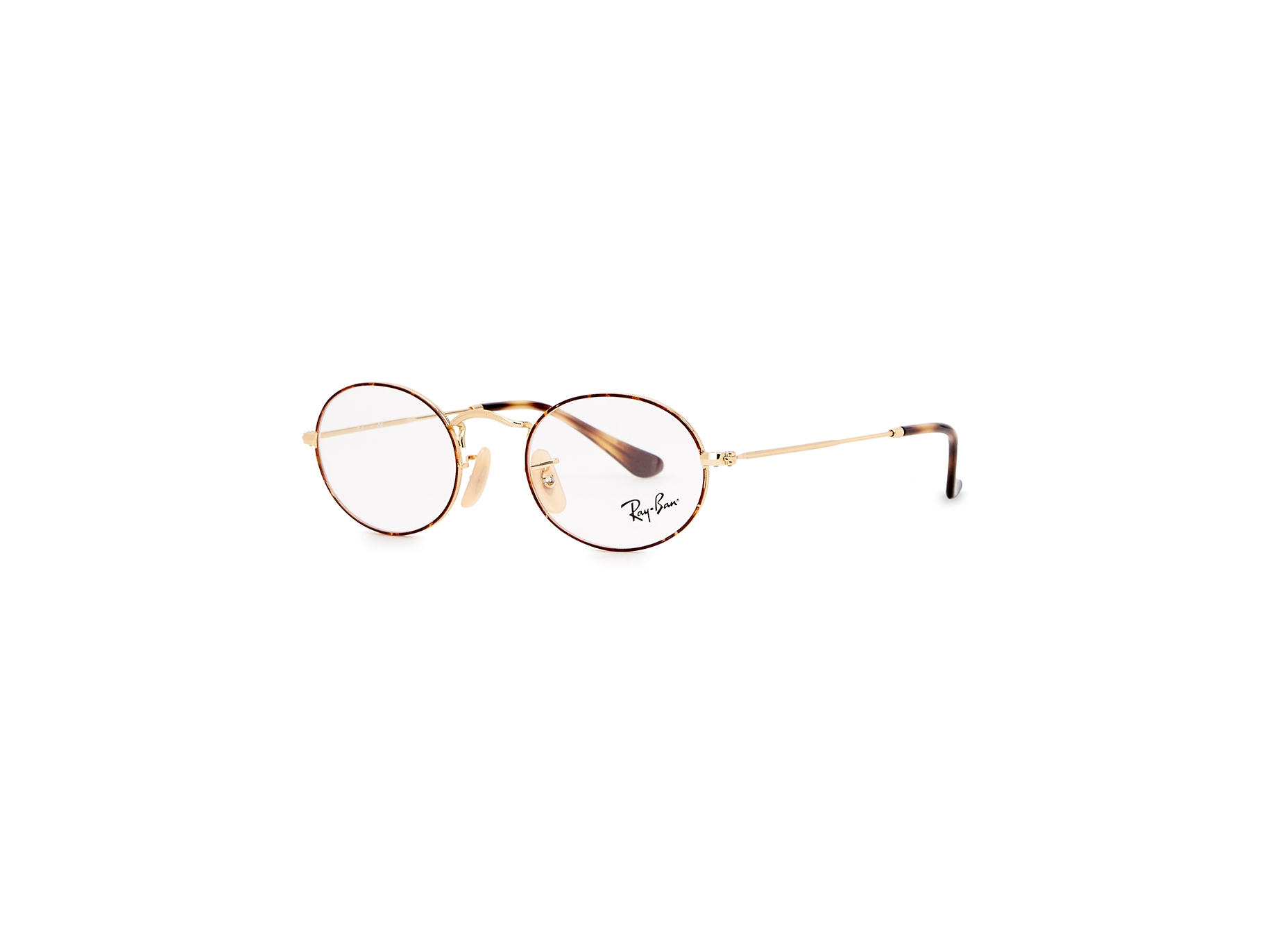 84a1656456 Ray-Ban Gold-tone oval-frame optical glasses - Harvey Nichols