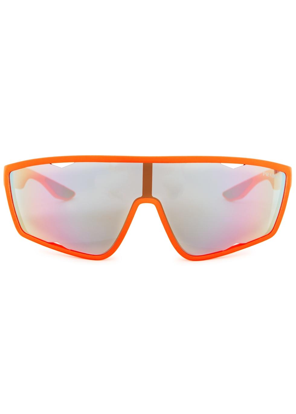 Neon orange matte sunglasses - Prada Linea Rossa