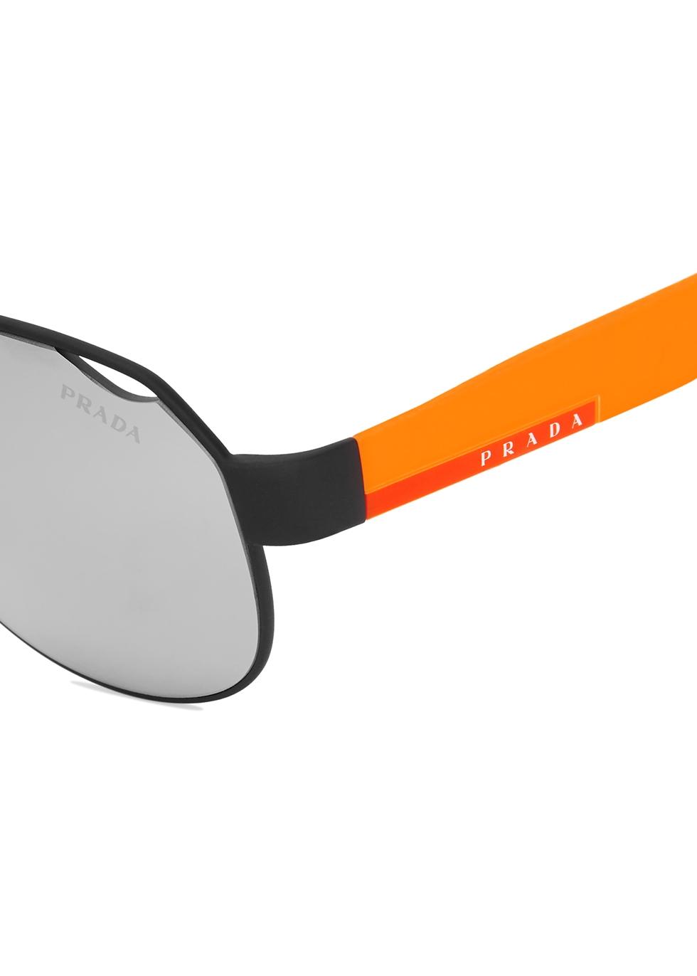 Black aviator style sunglasses - Prada Linea Rossa