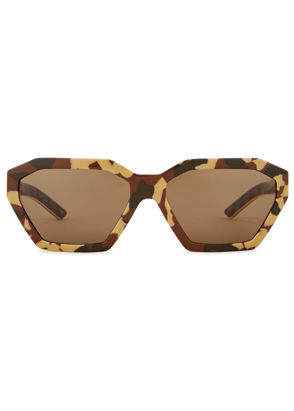 Camouflage heptagon-frame sunglasses - Prada