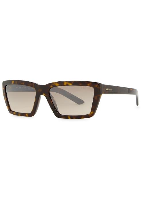 96e565275cc Prada Conceptual square-frame sunglasses - Harvey Nichols