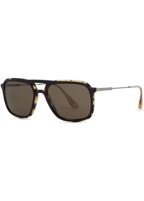 5d0c1aa50f6 Prada Tortoiseshell aviator-style sunglasses - Harvey Nichols