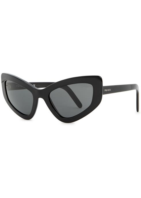 e363ec5d410 Prada Black cat-eye sunglasses - Harvey Nichols