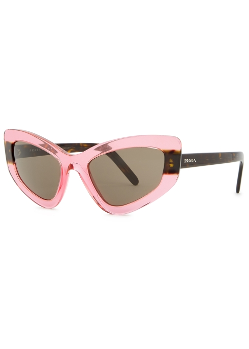 14837f1b0b41 Prada Pink transparent cat-eye sunglasses - Harvey Nichols
