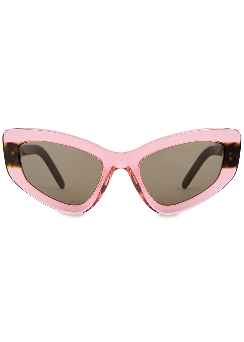 Pink transparent cat-eye sunglasses - Prada
