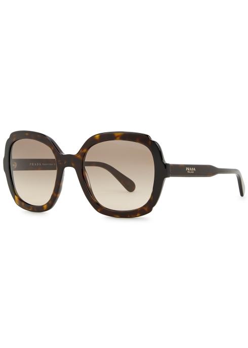 07c6a65d0e Prada Tortoiseshell oversized sunglasses - Harvey Nichols