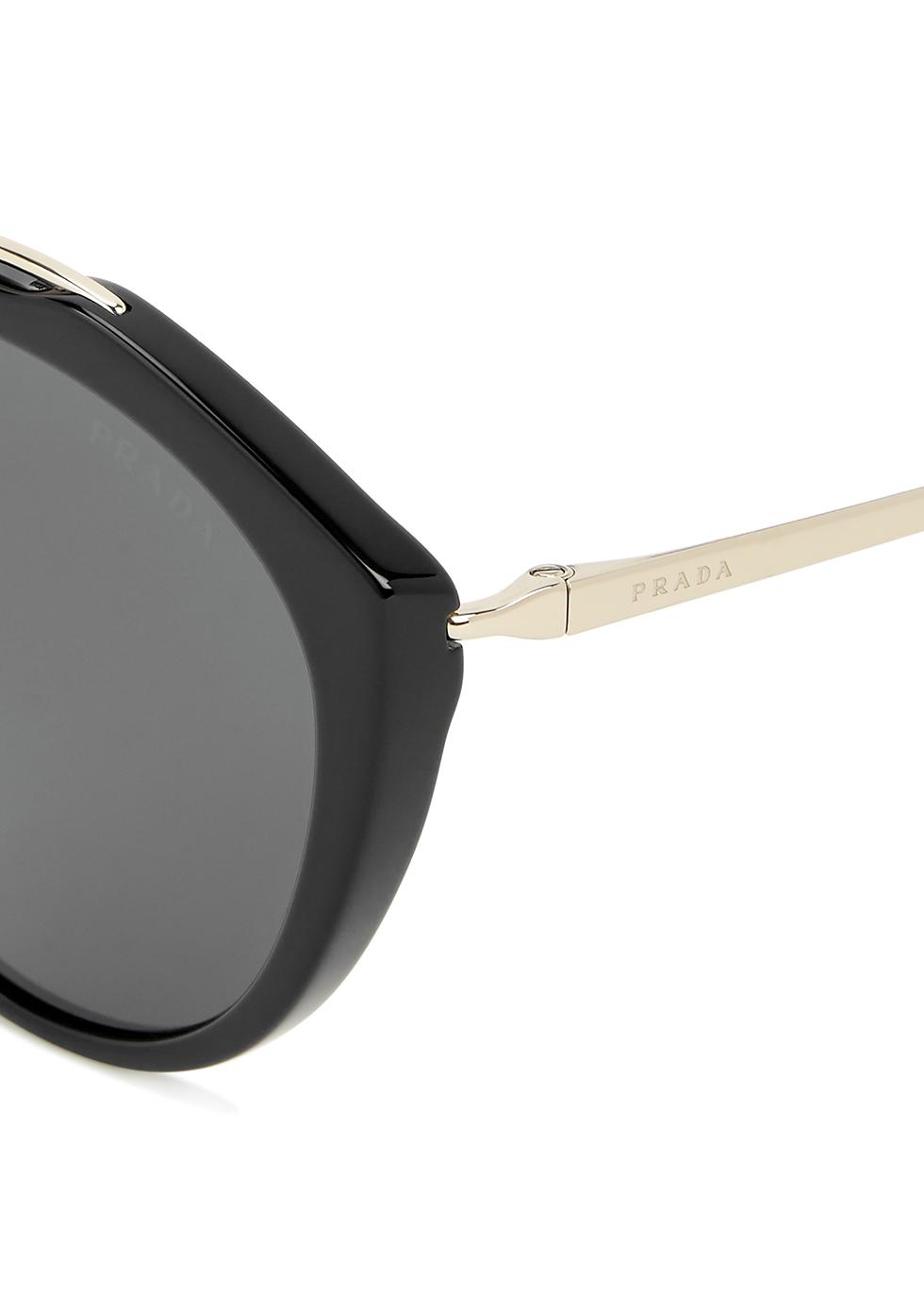 Black round-frame sunglasses - Prada