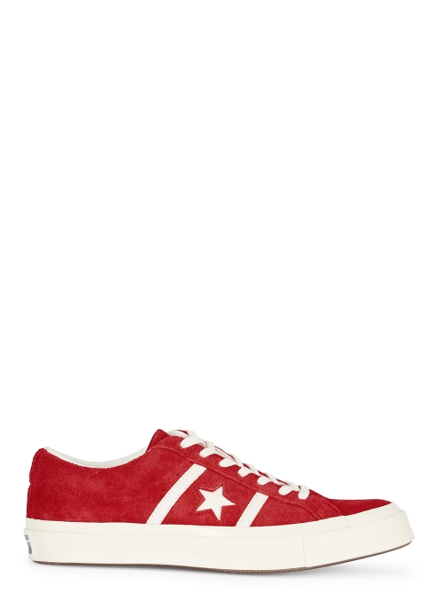 Converse One Star Academy OX red suede trainers - Harvey Nichols 3bcc0aa42