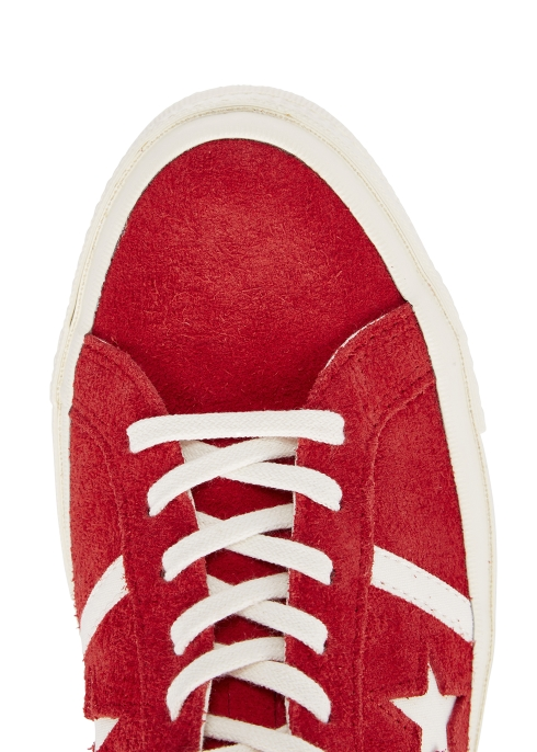 15d18d5ad584c1 Converse One Star Academy OX red suede trainers - Harvey Nichols