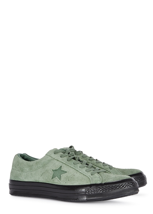 25e172c59bb660 Converse One Star Academy OX green suede trainers - Harvey Nichols