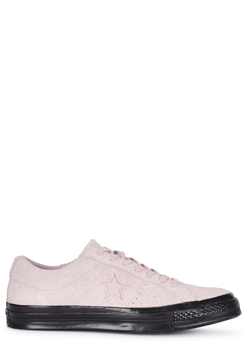 Converse Co One Star OX pink suede trainers - Harvey Nichols 638e181ef