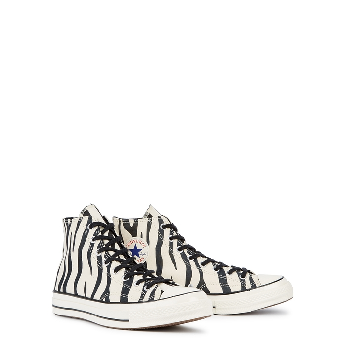 11be7a01b5036e Converse 1970S Chuck Taylor All Star Zebra-Print Canvas High-Top Sneakers  In Black