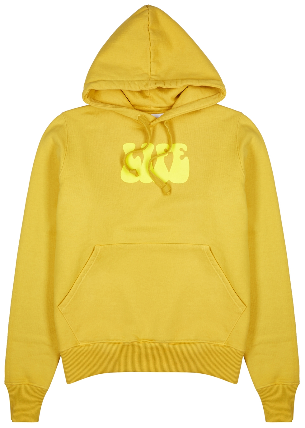 Life mustard printed cotton sweatshirt - Last Heavy
