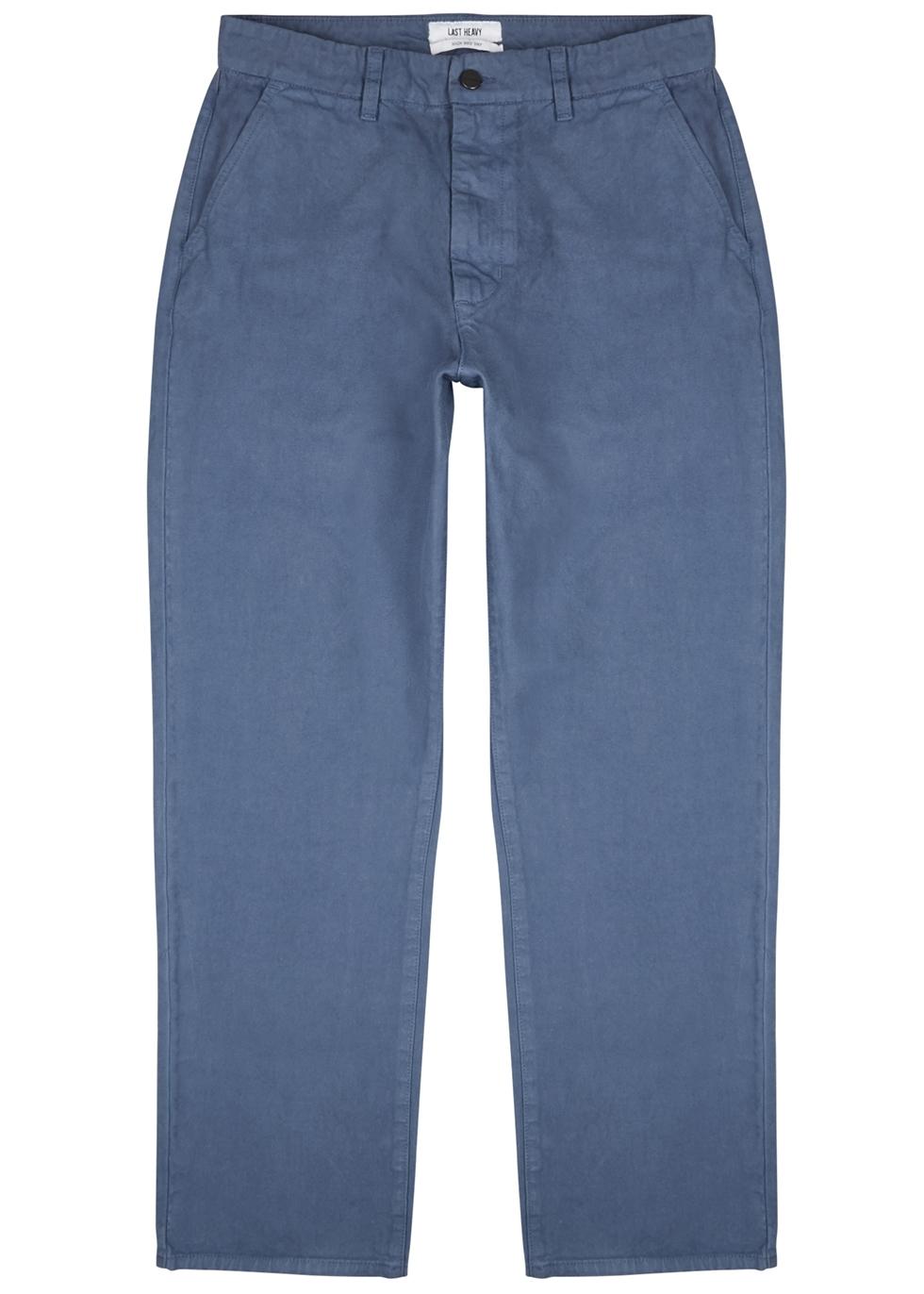 Blue straight-leg denim chinos - Last Heavy