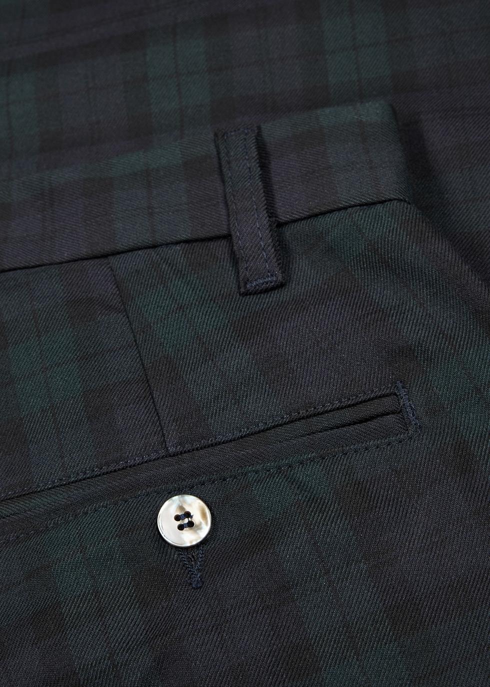 Checked wide-leg Tencel-blend trousers - Last Heavy