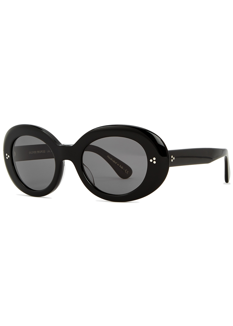 Erissa black round-frame sunglasses - Oliver Peoples