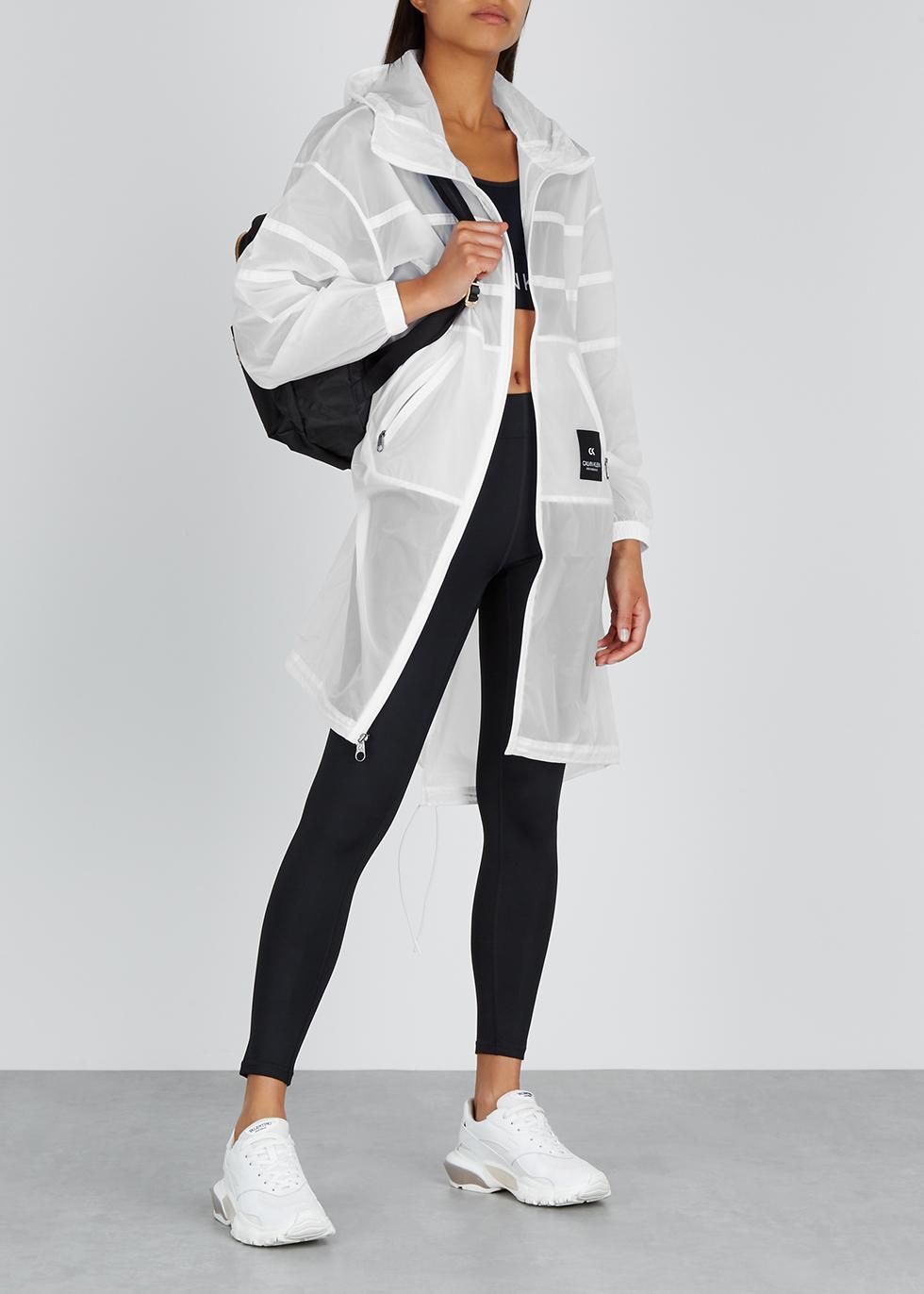 White hooded shell raincoat - Calvin Klein Performance