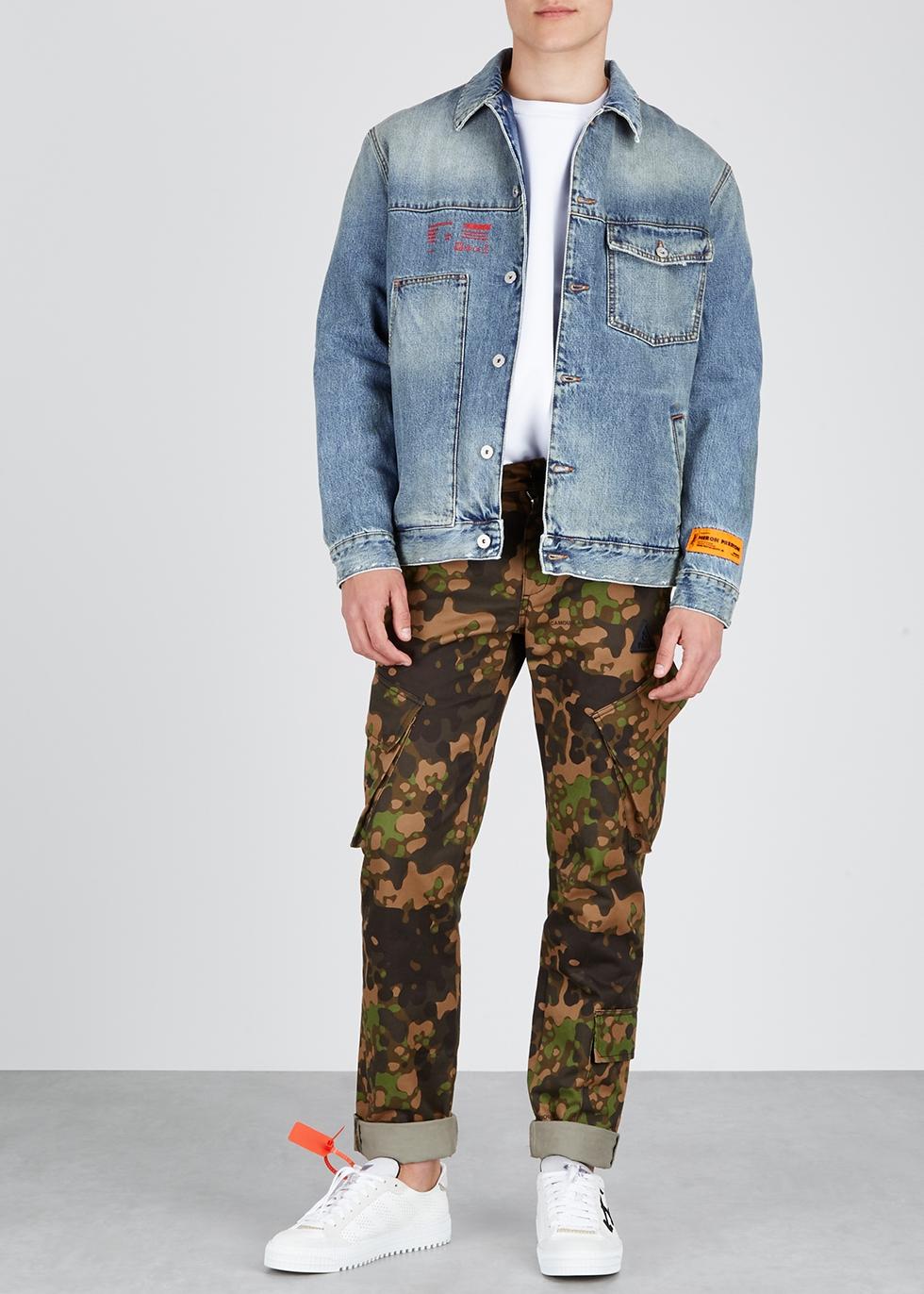Blue oversized denim jacket - Heron Preston