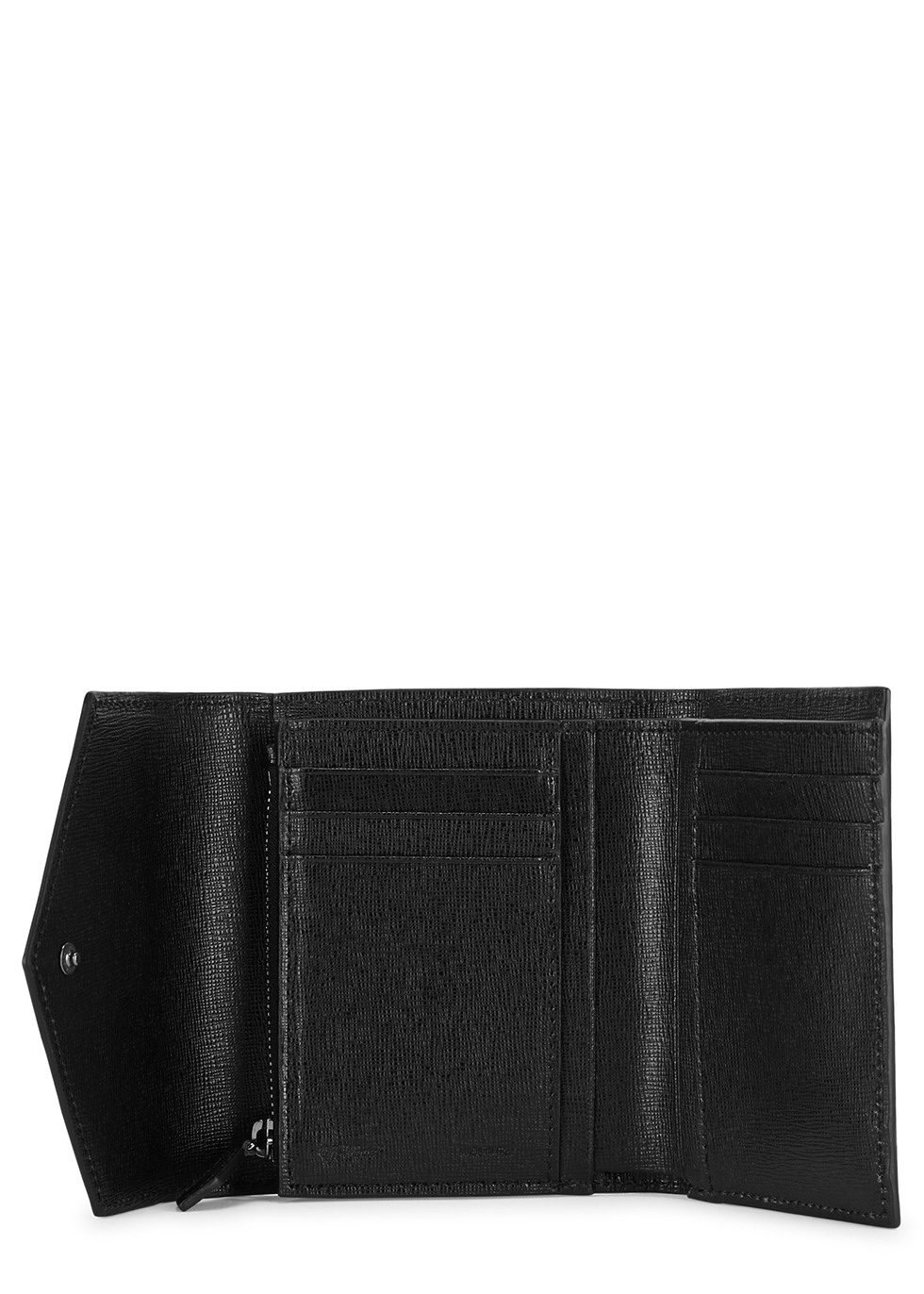 Sculpture black grained leather wallet - Off-White