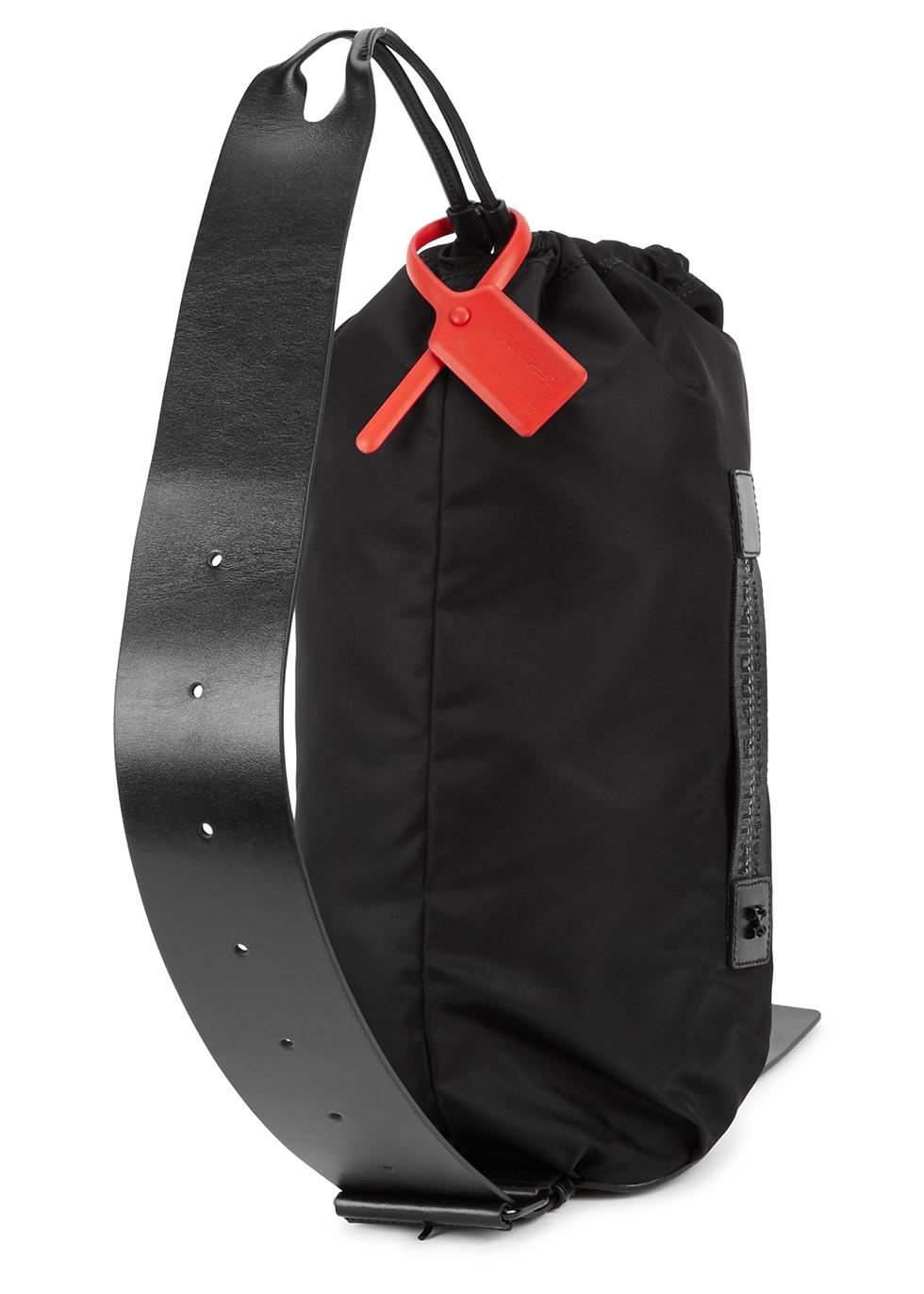 Black nylon backpack - Off-White