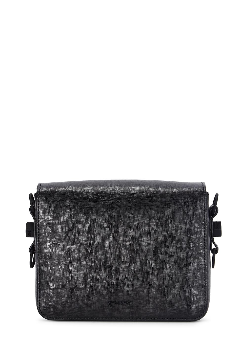 Diag black leather shoulder bag - Off-White