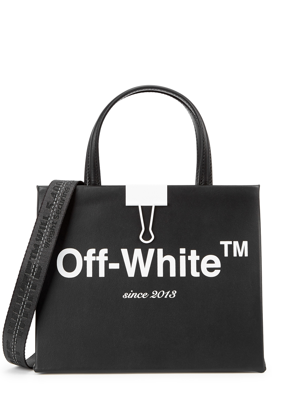 Sculpture mini leather top handle bag - Off-White