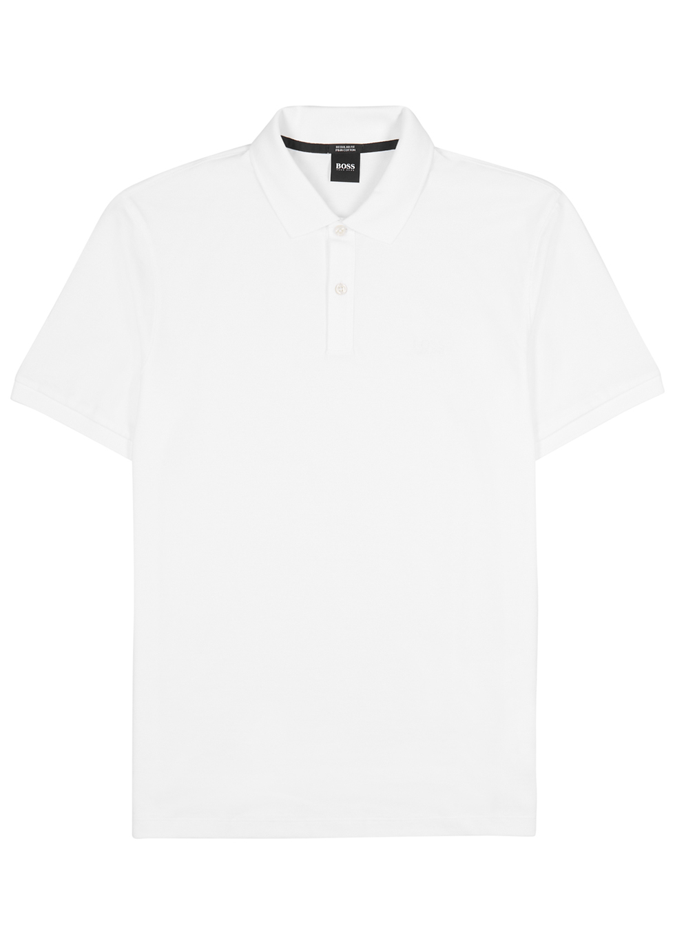 White cotton-piqué polo shirt - HUGO