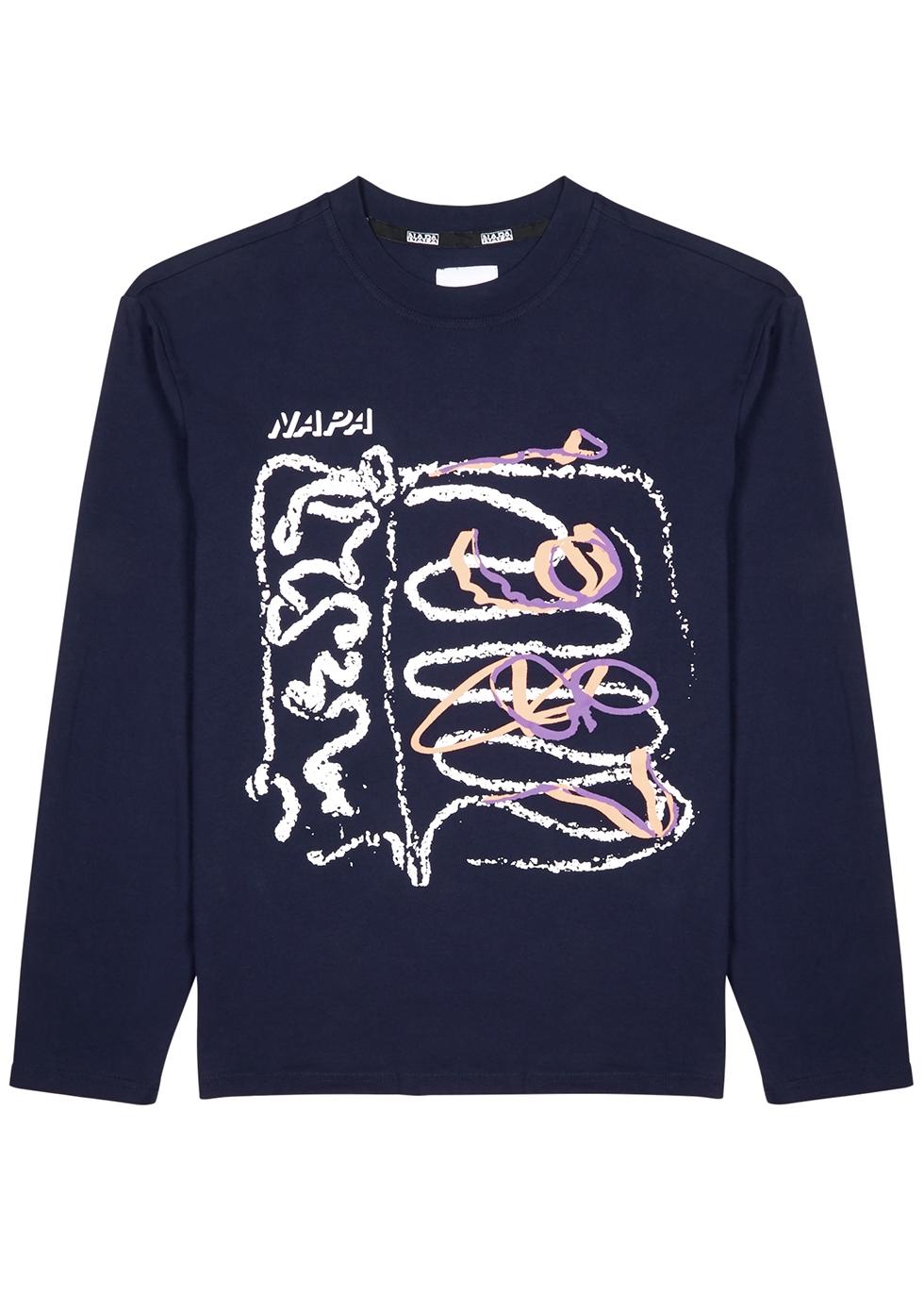 Senales printed cotton T-shirt - Napa by Martine Rose