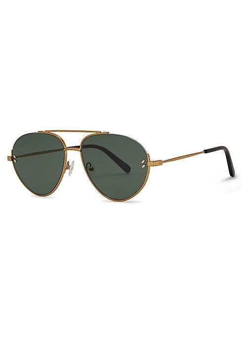 d16c096d41af Stella McCartney Gold-tone aviator-style sunglasses - Harvey Nichols