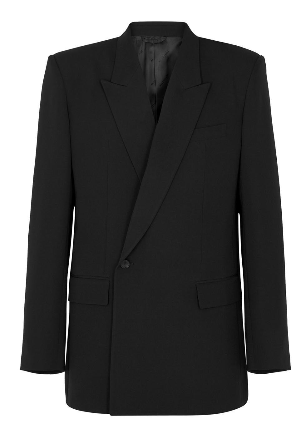 Black oversized twill blazer - Balenciaga