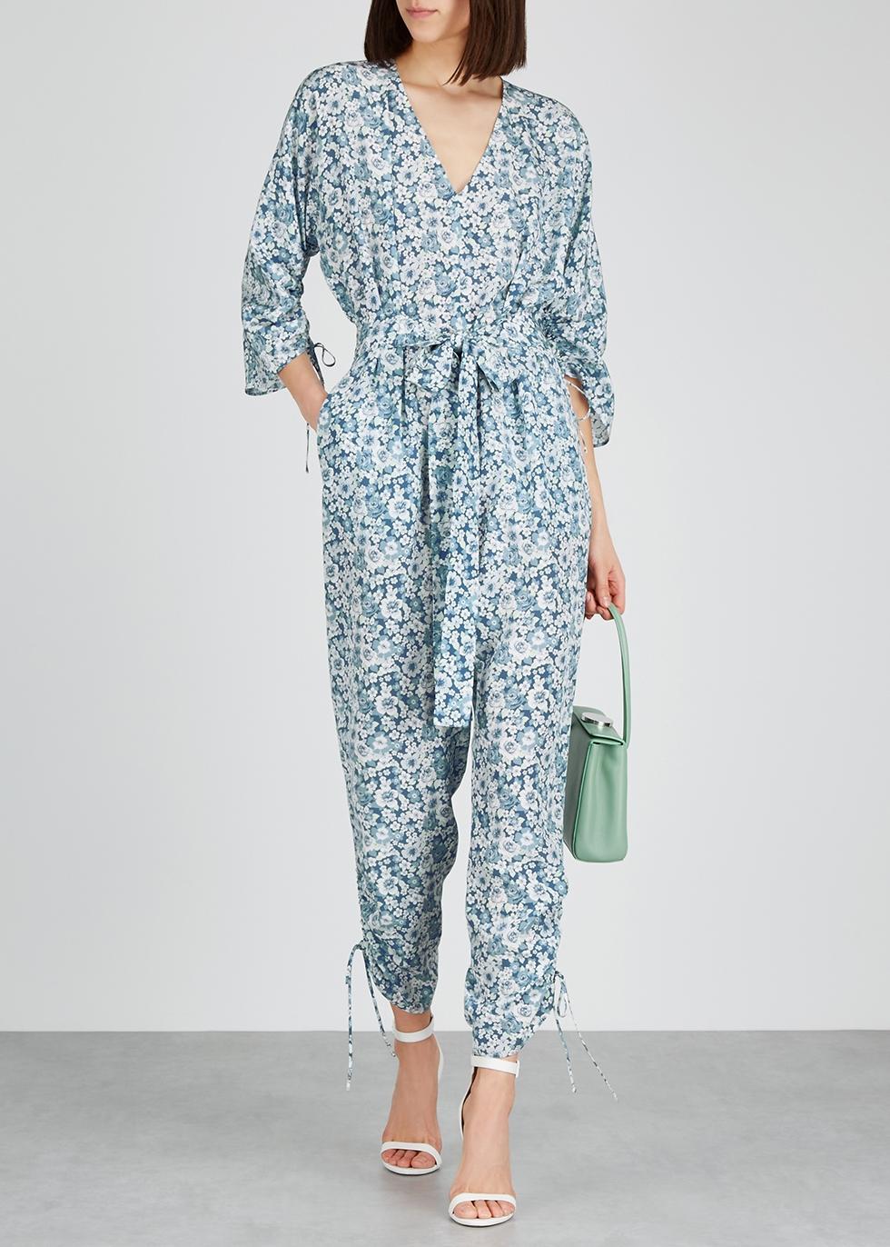 Floral-print silk jumpsuit - Stella McCartney