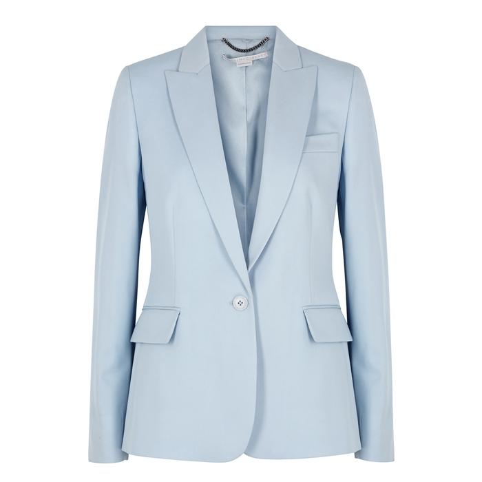 Stella Mccartney Jackets LIGHT BLUE WOOL BLAZER