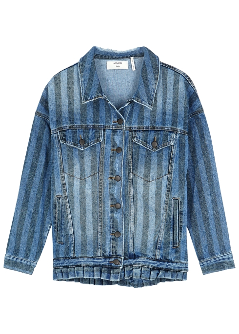 c12dba29e0c6 Oneteaspoon Blue striped denim jacket - Harvey Nichols