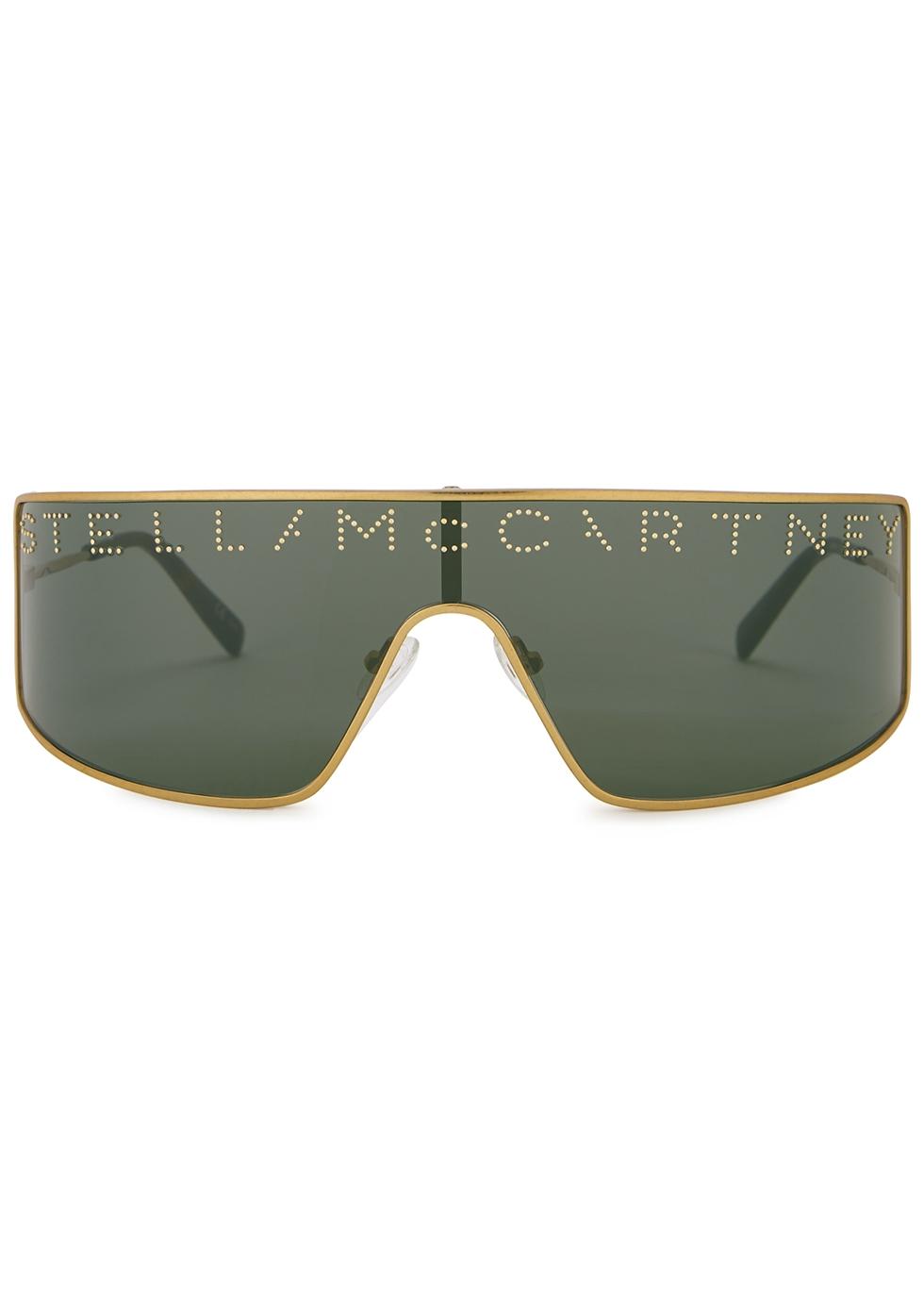 Gold-tone aviator-style sunglasses - Stella McCartney