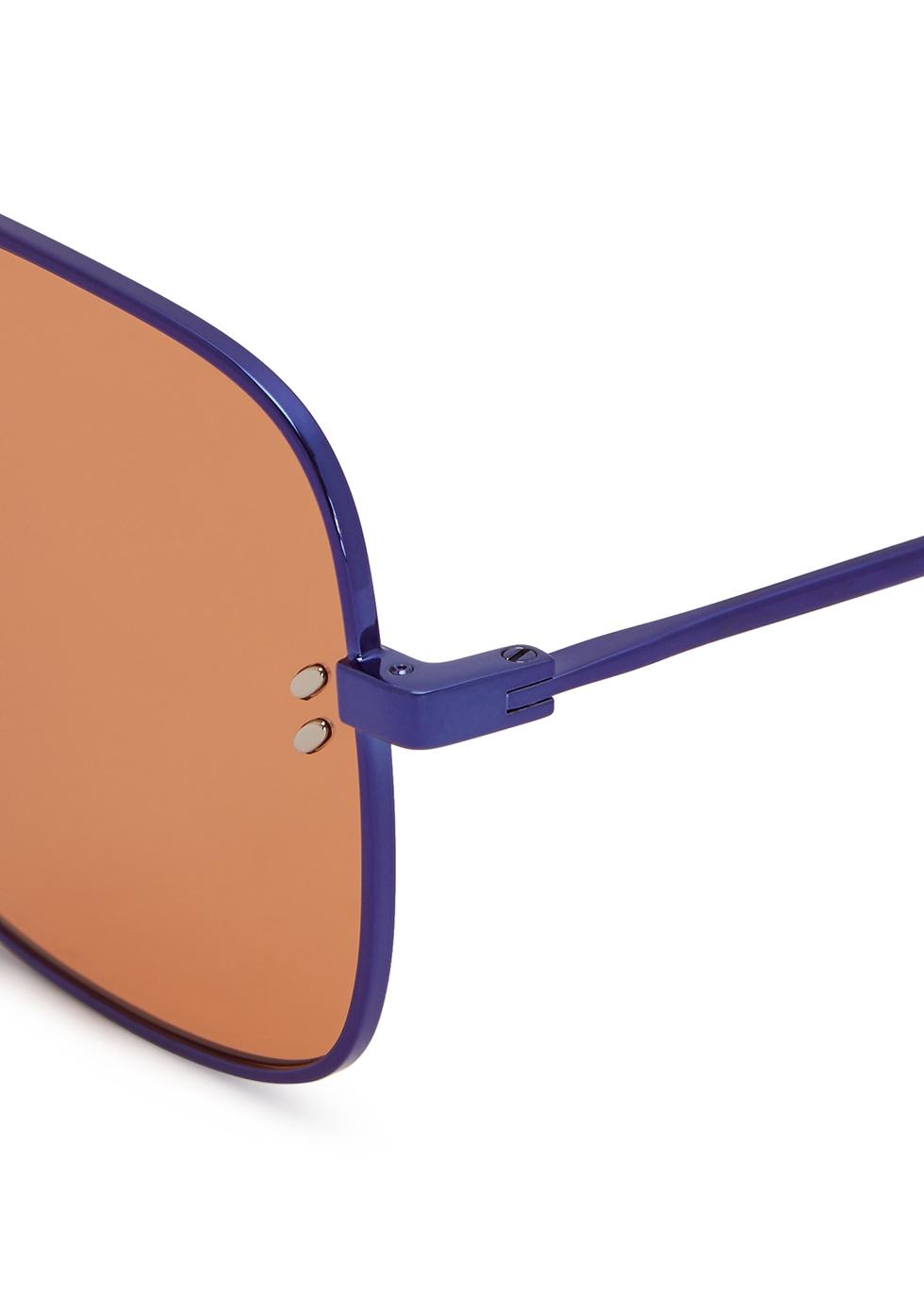 Electric blue aviator-style sunglasses - Stella McCartney