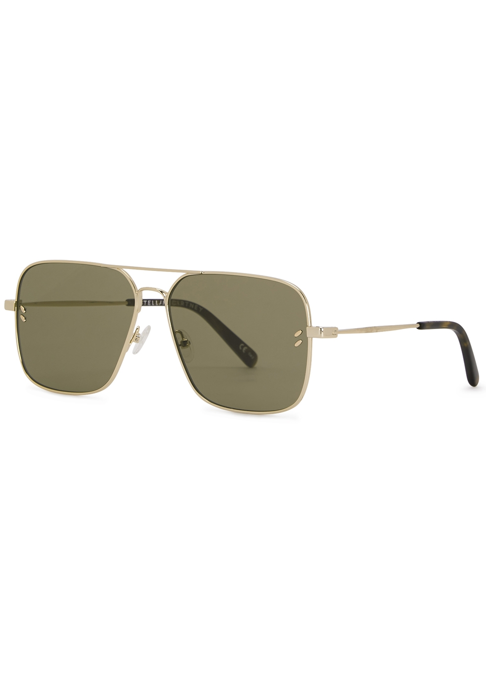Gold-tone aviator-style sunglasses - Stella McCartney
